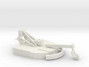 1/64 3pt Mower in White Natural Versatile Plastic