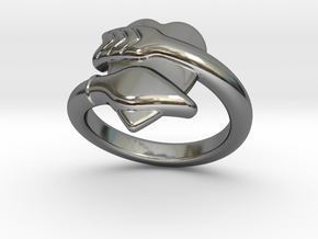 Cupido Ring 31 - Italian Size 31 in Fine Detail Polished Silver