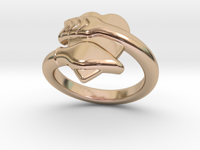 Cupido Ring 31 - Italian Size 31 in 14k Rose Gold Plated Brass