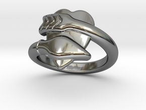 Cupido Ring 32 - Italian Size 32 in Fine Detail Polished Silver