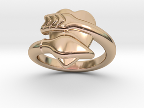 Cupido Ring 33 - Italian Size 33 in 14k Rose Gold Plated
