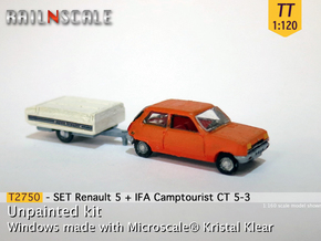 SET Renault 5 + Camptourist (TT 1:120) in Smooth Fine Detail Plastic