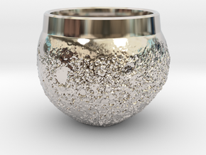 """Moon Shot"" Espresso Cup in Platinum"