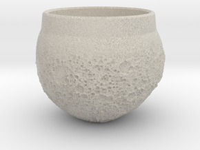 """Moon Shot"" Espresso Cup in Natural Sandstone"