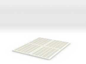 ACTION FIGURES FLOOR GRILLES 1/18 SCALE in White Processed Versatile Plastic