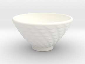 DRAW bowl - ceramic spiral bumps in White Processed Versatile Plastic