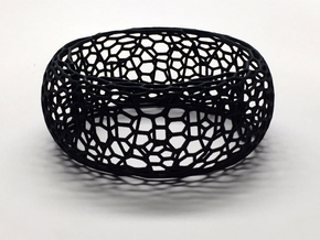 Honeycomb Bangle in Black Natural Versatile Plastic: Small