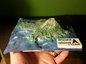 Wizard Island Map in Full Color Sandstone