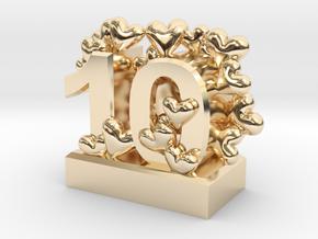 10th Anniversary Aluminum Gift in 14K Yellow Gold