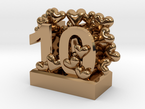10th Anniversary Aluminum Gift in Polished Brass