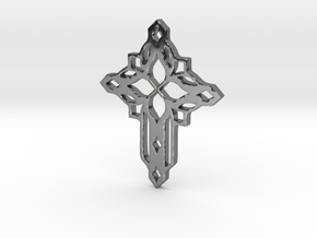 cross in Fine Detail Polished Silver