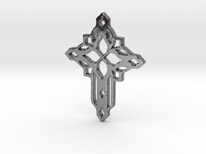 cross in Fine Detail Polished Silver