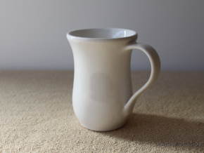 Mug 8 oz in Gloss White Porcelain