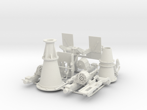20mm Oerlikon and Twin 20 mm Oerlikon. 1/18 scale. in White Natural Versatile Plastic
