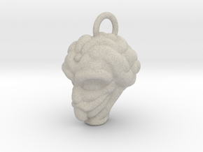 Alien Head Key Ring Add-on in Natural Sandstone