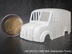 Divco Cab-V4 in Smooth Fine Detail Plastic