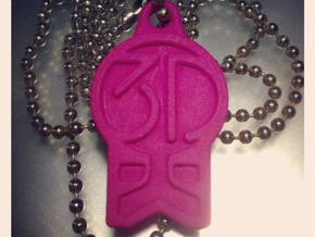 3DKitbash Logo Pendant in Pink Strong & Flexible Polished