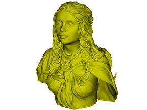 1/9 scale Daenerys Targaryen mother of dragon bust in Smooth Fine Detail Plastic