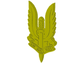 "British SAS 22nd regiment ""Who Dares Wins"" badge in Smooth Fine Detail Plastic"