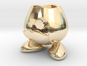 Monocle Planter Guy in 14K Yellow Gold