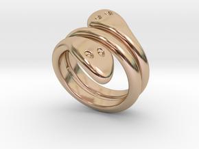 Ring Cobra 29 - Italian Size 29 in 14k Rose Gold Plated Brass