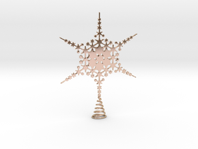 Sparkle Snow Star - Fractal Tree Top - HP3 - S in 14k Rose Gold