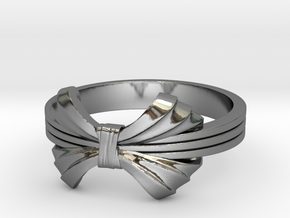 The Elegant Ring in Fine Detail Polished Silver: 6 / 51.5