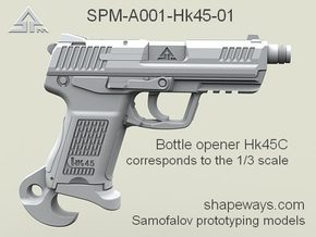 SPM-A001-Hk45-01 H&K 45C Bottle opener in Polished Nickel Steel