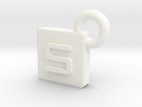 SarcaCraft Keychain - Medium in White Strong & Flexible Polished