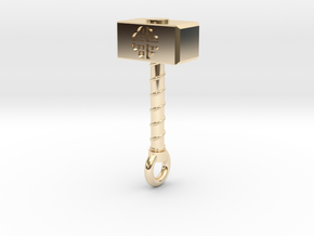 Thor's Hammer (Mjöllnir) in 14k Gold Plated Brass