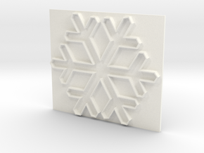 Snowflake1 in White Strong & Flexible Polished