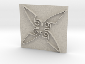 Throwing Star in Natural Sandstone