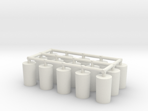 Fuselage Pegs (bomber) x15 in White Strong & Flexible