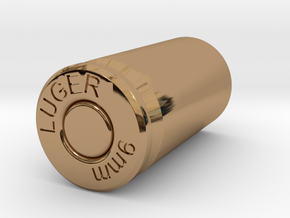 9mm Lugers case Mug in Polished Brass