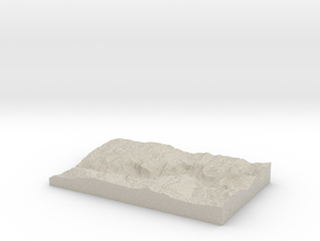 Model of Lower Brother in Natural Sandstone