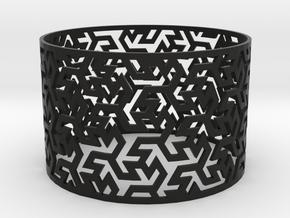 Bracelet Iranian Brickwork 1 in Black Natural Versatile Plastic