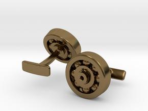 Bearing Cufflink in Polished Bronze