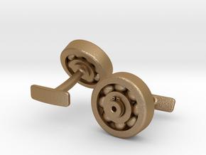 Bearing Cufflink in Matte Gold Steel