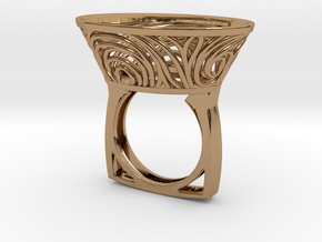 Constantina Contemporary - nest ring  in Polished Brass