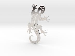 Gecko  in Rhodium Plated Brass