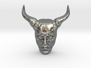 DevilPendant in Polished Silver