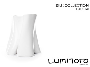 Habutai Vase - Silk Collection in Gloss White Porcelain
