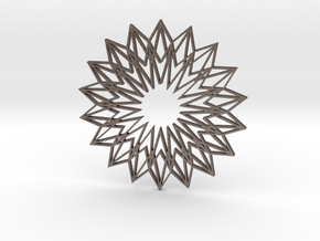 Arabesque: Sunflower in Polished Bronzed Silver Steel