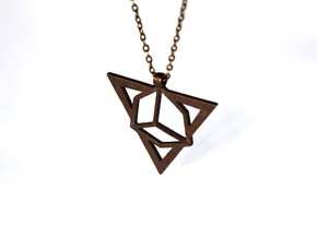 Necklace Pendant (montane) in Polished Bronze Steel