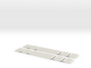 Polymer Anti-trespass Panels (Setrack) in White Natural Versatile Plastic