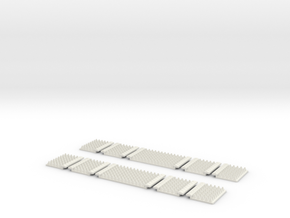 Polymer Anti-trespass Panels (Streamline) in White Natural Versatile Plastic