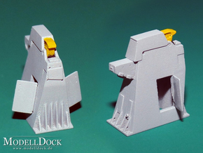 1/144 - Holddown Arms LC-34 (2x opened doors) in Frosted Extreme Detail