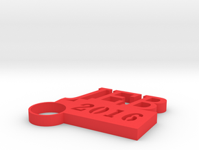 JEB Key Chain in Red Processed Versatile Plastic
