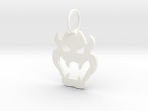 Bowser Pendant in White Processed Versatile Plastic