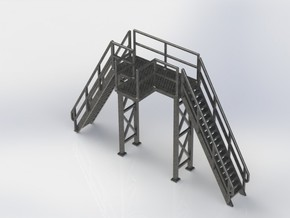 HO 1/87 Loading Platform for depot/industry in White Natural Versatile Plastic